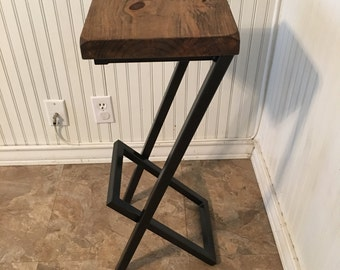 Lovely Cast Iron Bar Stool