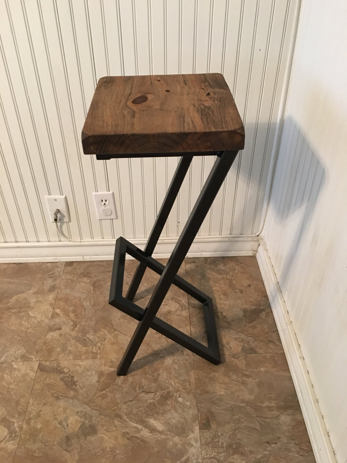 Bar stools metal and wood stool modern