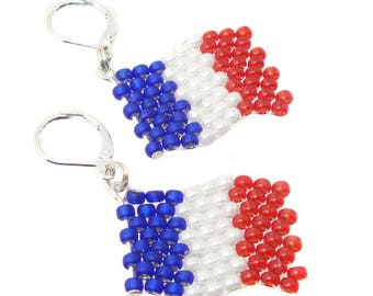 France - World Cup colours - earrings - 2018 - merchandise (BS-1107)