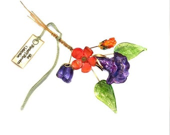 Autumn Mix Lampwork Headpin Bouquet. Set of six headpins.