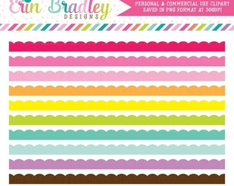 80% OFF SALE Scalloped Borders Clipart Clip Art Personal & Commercial Use Digital Graphics