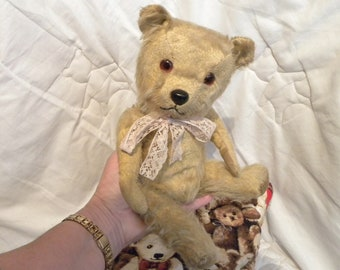"Chiltern 1950's Bear - 12"" Mohair Bear - Vintage Chiltern Teddy Bear"