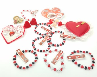 Lot of Valentine's Day Themed Jewelry