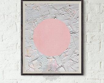 Geometric art printable - Abstract Art, Modern Art Print, Pink Art, Circle Art, Abstract Modern Print, Minimalist Art, Minimal Art, Digital
