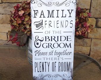 Rustic, wedding, Seating sign, brown and ivory