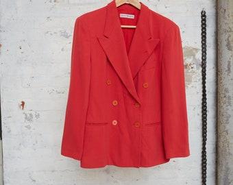 EMPORIO ARMANI RED Double Breasted Blazer