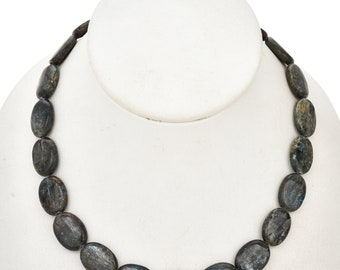 13mm x 18mm Kyanite Beads 16 inch Long Strand - Gemstone Beads - Jewelry Supplies