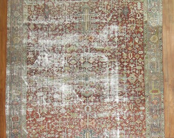 Antique Persian Heriz Rug Size 8'6'' x 10'10''