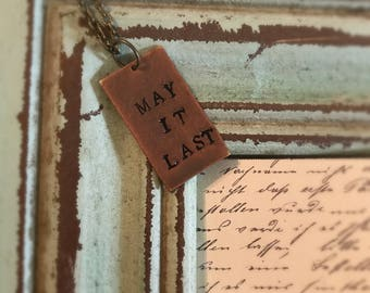 Avett Brothers May It Last Necklace