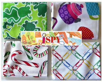 Leap Frog, Ispy 4Pc Fat Quarter Bundle - Cotton Benartex Fabric 18inx 21in