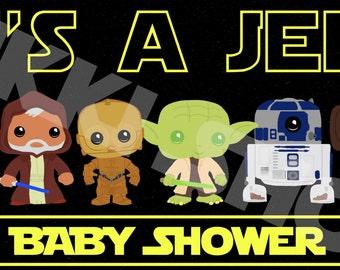 Star Wars Baby Shower 1.7u0027 X 3u0027 Banner