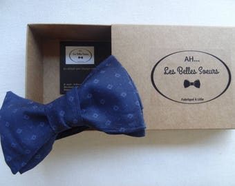 Cotton fabric Franck knotted bow