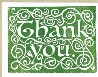 Celtic Thank You - Letterpress Card