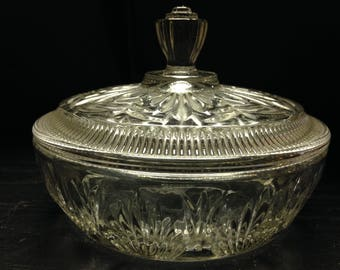 Vintage Avon candy dish with lid gorgeous cut glass
