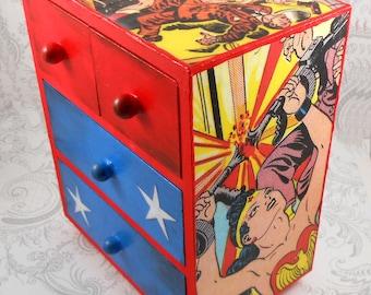 Custom Golden Age Wonder Woman Stash Jewelry Box