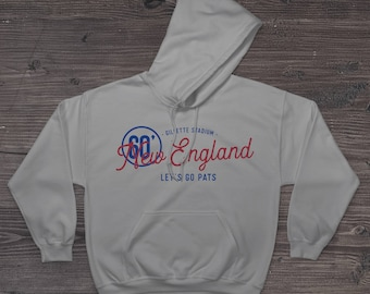 New England Patriots Football Fan Hoodies 50/50 Cotton-Poly Blend