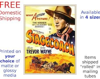John Wayne - Stagecoach #2 - Vintage Film / Movie Poster (491987198)