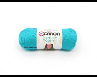 Caron Simply Soft Yarn, Blue Mint, 6oz