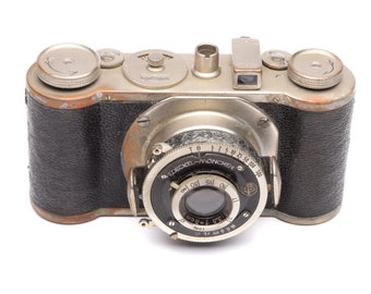 Wirgin Edinex Camera with Compur & Gewironar 50mm f/3.5 Lens c. 1935-50