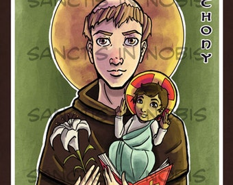 Saint Anthony of Padua Art Print, Catholic Saint Art Iconography, Confirmation Gifts