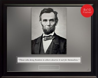 """Abraham Lincoln Photo, Picture, Poster or Framed Quote """"Those who deny freedom"""" - US Presidents, Famous Quotes, High Quality Print, Wall Art"""