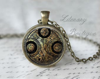 Doctor Who, Dr Who, Time Lord, Gallifrey, Gallifreyan Symbol Necklace or Keyring, Keychain.