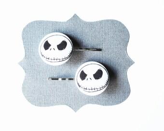 Nightmare Before Christmas Jack Skellington Skull Bobby Pins - Hair Pins