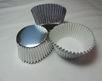 48 Silver Foil Standard Size Cupcake Liners Baking Cups Baking Supplies Jenuine Crafts