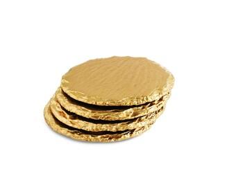Gold Slate Coasters (4pc Gift Set)