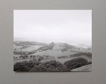 View from Hills in Scotland Gray Art Nature Print Black and White Photography Nature Photography Scottish Art Scotland Photography Hike
