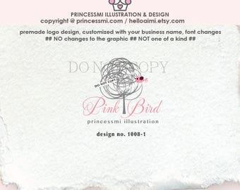 1008-1  Tree logo, logo branding, boutique logo, small business logo, whimsical logo, business logo design, logo watermark, logo design