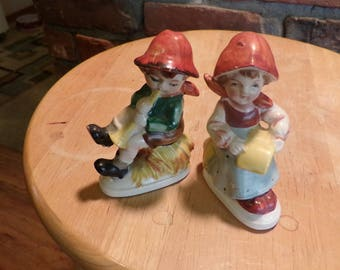 OCCUPIED JAPAN Girl and Boy Figurines, 1940's figurines, collectible figurines