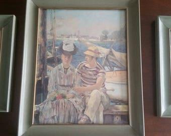 Edouard Manet framed print set (3)