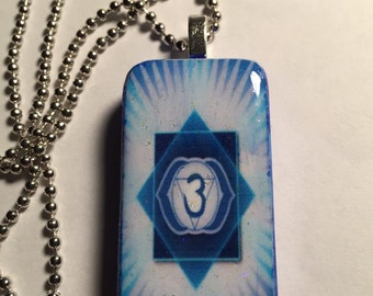 Third Eye Chakra Altered Domino Necklace