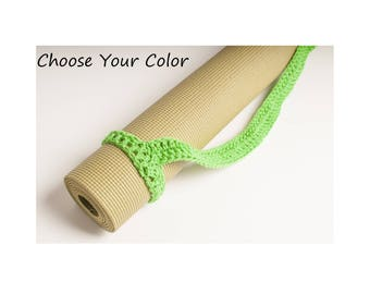 Yoga Mat Strap, Yoga Mat Sturdy Sling Handle - US Shipping Included - Your Choice of Color - Made to Order,  Original HH Design