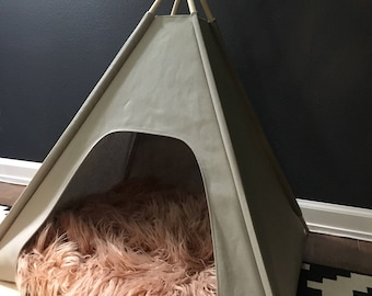 Blush Luxe Fur Collection - Small Pillow Cover Only (teepee NOT included)