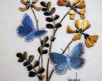 Helen Stevens' Embroidered Butterflies The Masterclass Embroidery Series Hardcover Embroidery Pattern Book 2001