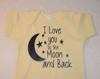 I love you to the moon and back Onesie