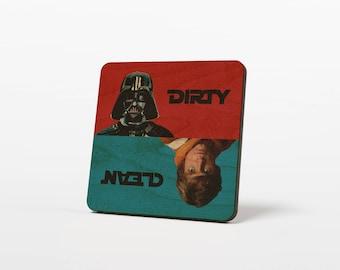 Star Wars Skywalker Darth Vader Clean / Dirty Dishwasher Magnet Notifier Sign