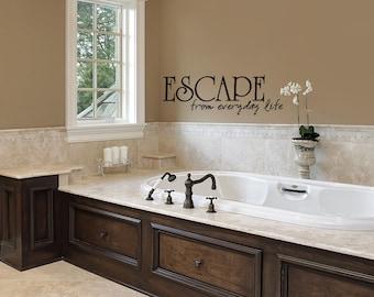 Bathroom Decor Wall Sticker Bathtub Escape Bathroom Wall Decal Decal Wall Wall Graphics Wall Quotes Vinyl Wall Decals Bathroom & Get Naked Bathroom Wall Decal Vinyl Wall Decal Wall