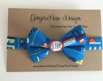 Construction Trucks Bow Tie; Boys Bow Tie; Toddler Bow Tie; Baby Bow Tie; Adjustable Bow Tie; Men's Bow Tie