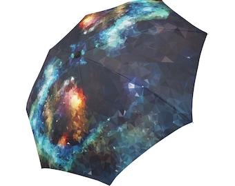 Blue Umbrella Galaxy Umbrella Floral Designed Umbrella Geometric Umbrella Rainbow Umbrella Photo Umbrella Automatic Foldable Umbrella