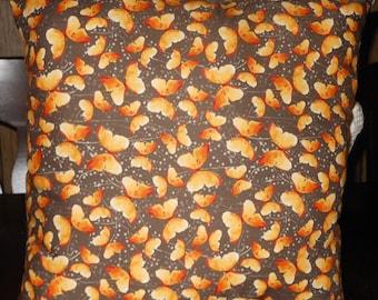 Butterfly Pillow, 14 X 14 Decorative Pillow