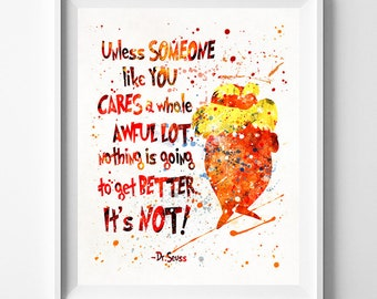 Doctor Seuss Print, Dr Seuss Poster, Dr Seuss Quote, Nursery Decor, Baby Room Wall Art, Kids Room Decor, Type 8, Fathers Day Gift