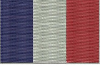 FRANCE World Flag Embroidery Design