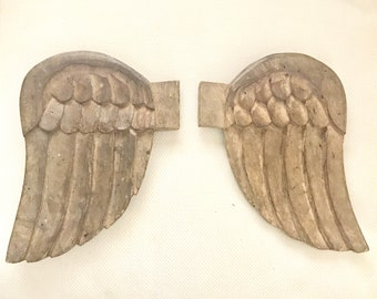 Vintage Handcarved Wooden Molds-Angel Wings