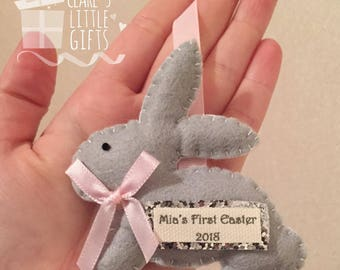 Baby first easter etsy babys first easter gift easter keepsake easter bunny gift negle Gallery