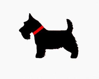 Dog Scottish Terrier Embroidery Design