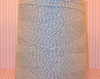 Baby Blue and White Bakery Twine (25 Yds) Bakery Twine, Blue Twine, Blue Bakery Twine