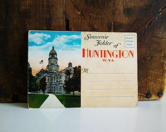Vintage Hungtington W Va Postcard Folder, unused